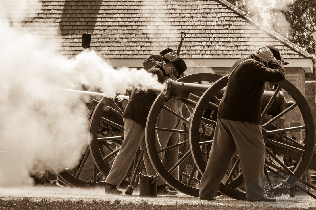 Fort Snelling Cannon Fire sepia